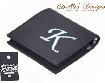 Business card case etsy charcoal square business card holder 2 x 2 225 x 225 colourmoves Gallery