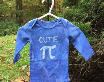 Pi Day Baby Bodysuit, Blue Pi Day Bodysuit, Cutie Pi Baby Bodysuit, Boy Pi Day Bodysuit, Girl Pi Day Bodysuit, Math Baby Gift (6 months)