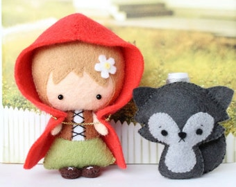 Patterns: Felt Little Red Riding Hood and Wolf Cub