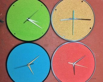 Upcycled Cork & Record Clocks (laser cut)
