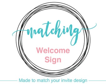 WELCOME SIGN, DIY Printable, Baby Shower Sign, Bridal Shower Decor, Wedding Decorations