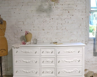 Painted Cottage Chic Shabby French Dresser DR1002