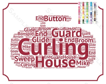 PERSONALIZED Curling Gift, Curling Gift Ideas, Gift for Her, Gift for Him, Word Art Curling Gift Ideas, Curler Gifts 8 x 10 Curling Print