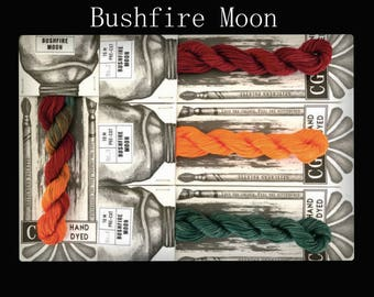Bushfire Moon Cottage Garden Threads Stitchers Palette -CGT- 6 Strand Cotton embroidery thread- Hand Dyed Thread-Quilting Australia