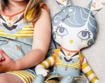 Rag Doll Sewing Kit - Doll Pattern - Doll And Doll's Dress Set - DIY Doll Kit - Sewing Gift - Heirloom Doll - Soft Toy Kit - Make Your Own