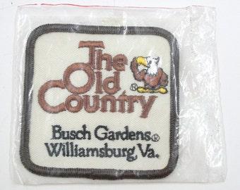 Vintage Busch Gardens Williamsburg Patch