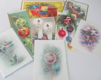 Vintage Christmas Card Lot, 1960's Christmas Ornament Cards, Used Christmas Cards, Greeting Cards, 1960's Christmas, Crafting