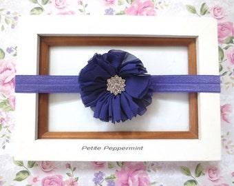 Purple Baby Headband,Baby Hair Bow, Baby Girl Headband,Baby Flower Headband,Baby Head band,Purple Girl Hair Bow, Toddler Headband