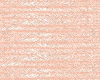 Gathered by Bonnie Christine Bristling in Balmy - Art Gallery Fabrics peach coral and white fabric