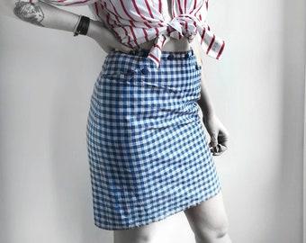 Vintage Plaid skirt. Vintage pencil skirt