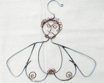 Closet Jewelry, Transgender, Hanger. Steel, forged wire sculpture Clothing Lingerie