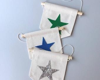Mini Canvas Banner - Star 6x6in