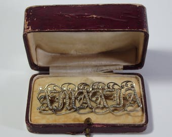 Antique Victorian Gold (14K) & Silver Brooch With Pearls-Amadia (Amanda)-19th Century