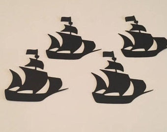 25 Cut Out Die Cut Cardstock Pirate Ship