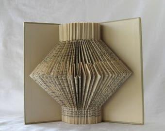 Gray Altered book sculpture, book art, book folding art, paper sculpture, folded book decor, book lover gift, paper anniversary gift, home