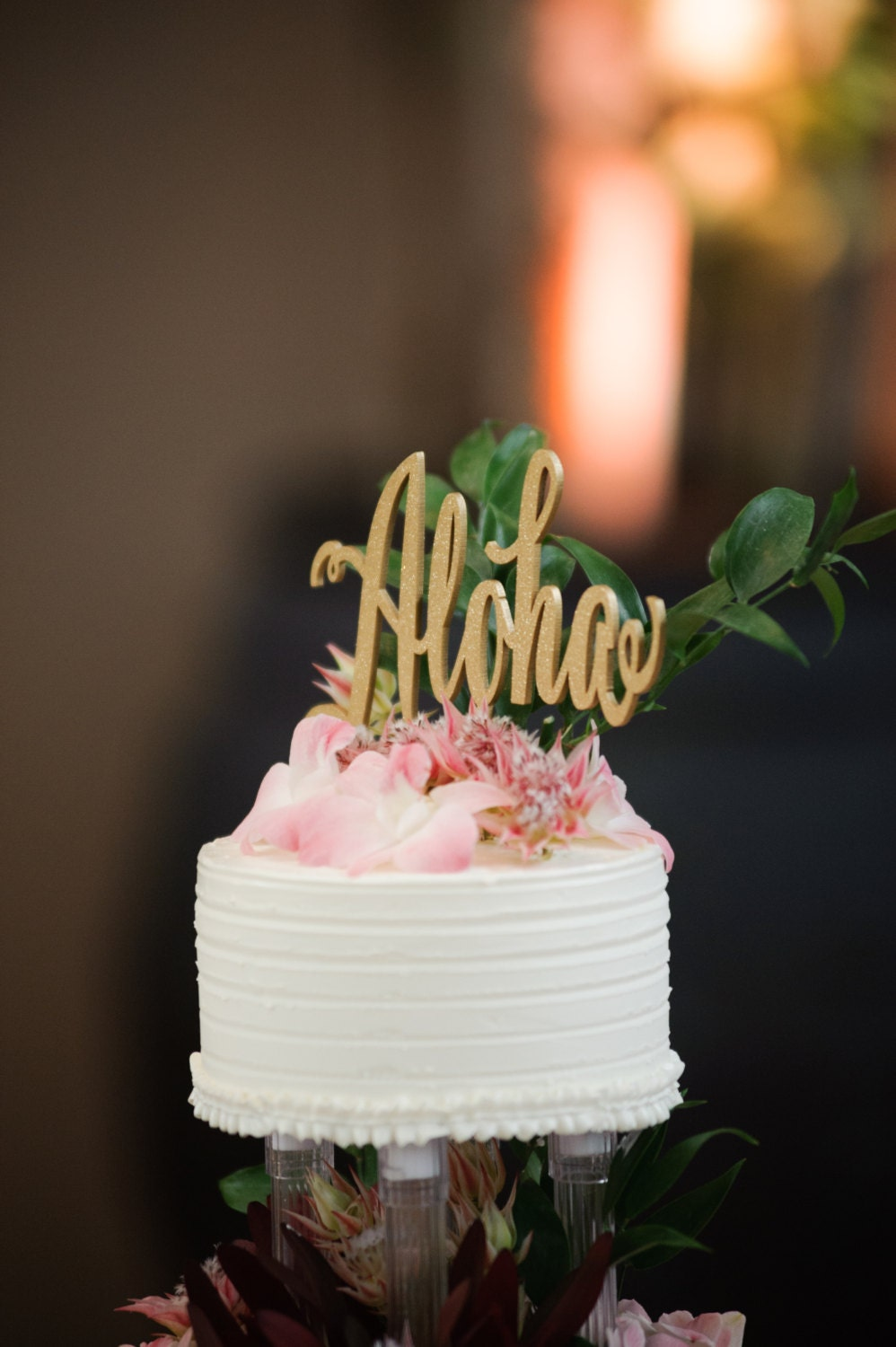 gold wedding cake topper aloha cake topper gold wedding wedding cake topper 4545