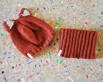 Fox Hat And Cowl for Kid / 1 - 3 Years