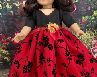 Holiday Ball Gown for 18 Inch Dolls
