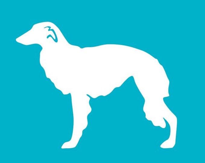 Silken Windhound Car Decal | Dog Breed Sticker | Dog Silhouette | Laptops | Tumblers | Boats | Trucks | Briard Mom & Dad | I Love My Briard