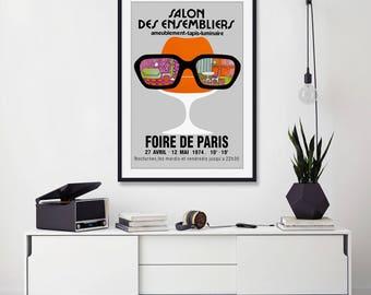 Salon Des Ensembliers Vintage Poster