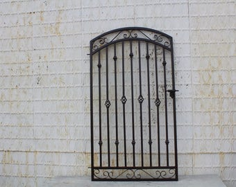 """Antique Style Custom 40"""" wide x 63"""" tall Donovan Wrought Iron Gate"""