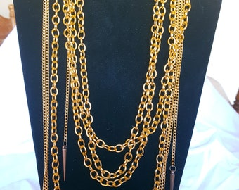 Gold multi strand chain