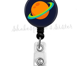 Outer Space, Planet, Badge Reel, Retractable Badge, ID Holder