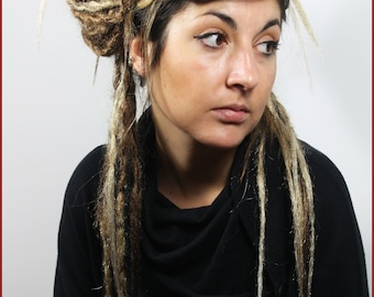 Brown & Blonde Ombre Dreads Falls. Crocheted and Natural, 20 Inches Long