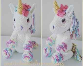 Lavender Unicorn Crochet Pattern ONLY not a finished product - Amigurumi PDF instant download