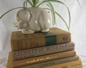 Vintage Books / yellow Books / gold books / rustic Books / Beach Decor / vintage hardcover /