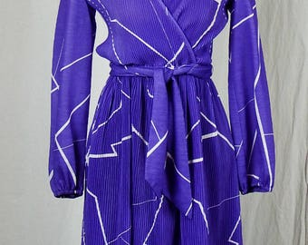 Vintage 1970s Hal Ferman PCF Petites Funky Secretary Dress