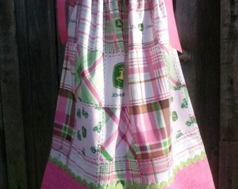 Dress, Pillowcase Dress, Tractor, Tractor Dress, Size 6 Ready to Ship!