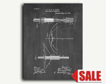 Patent Print - Self Opening Umbrella Patent Wall Art Poster