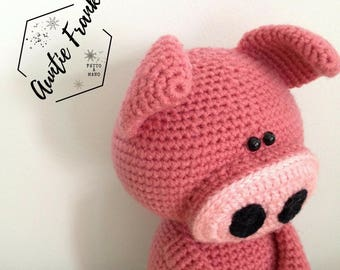 TOY - Nelly The Piglet - Crochet / Amigurumi Doll Made to Order