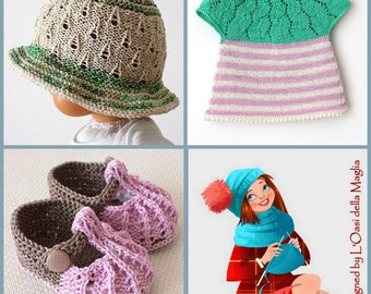 You Choose  ANY 10 patterns (knitting and crochet patterns)