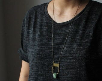 Emerald necklace gold natural emerald pendant necklace genuine emerald necklace emerald jewelry mint green modern minimalist boho jewelry