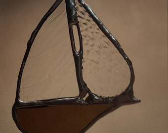 Custom Stained Glass Sailboat