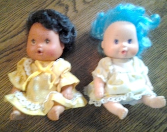 """Two (2) Tiny Four Inch (4"""") Doll Babies"""