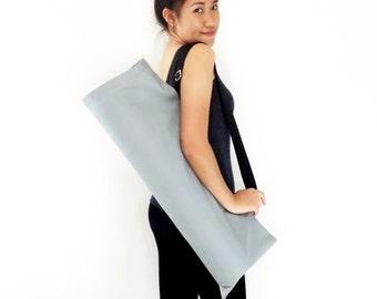 Handmade Yoga Mat Bag Yoga Bag Sports Bags Tote Yoga Sling bag Pilates Bag Pilates Mat Bag Canvas Yoga Bag WITH Solid Color