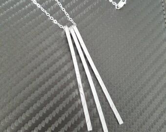 Silver Statement Necklace / Unique Silver Necklace / Modern Silver Necklace / Minimalist Silver Necklace
