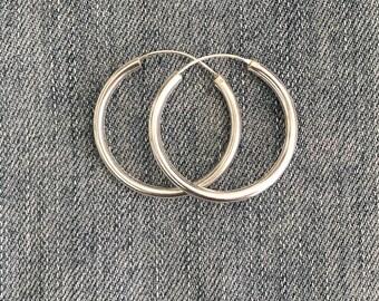 "Silver ''Alicia"" Hoop Earrings / Sterling Silver / Silver 925 Hoops / Boho Hoop Earrings / Boho Silver Jewelry"