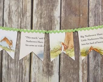 Book page banner, storybook banner, children's book banner, vintage book garland, reading banner, library banner, baby shower garland