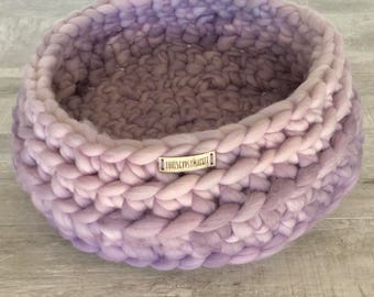 CAT BED Soft /Chunky , Dog Bed, Pet Bed, Pet Bedding, Pet Supplies,Handmade Cat Bed, Free Shipping USA