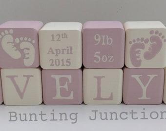 Personalised Wooden handpainted blocks