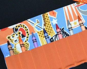 Big Top Circus Crayon Roll Party Favor - Circus Birthday Party - STOCKING STUFFER Christmas Gift - Crayon Holder - Crayon Keeper
