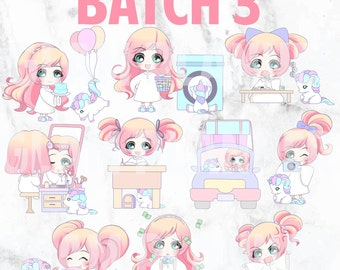 Batch 3 - Lolly and Pop 01 (Kawaii Planner Stickers)