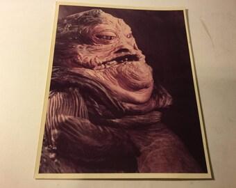 Vintage Star Wars JAbba The Hutt Photo Pic Photograph