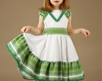 Ukrainian Children's Dress embroidery. Dress for girls, Ukrainian national Dress. Vyshyvanka. Ukrainian Girls' Clothing
