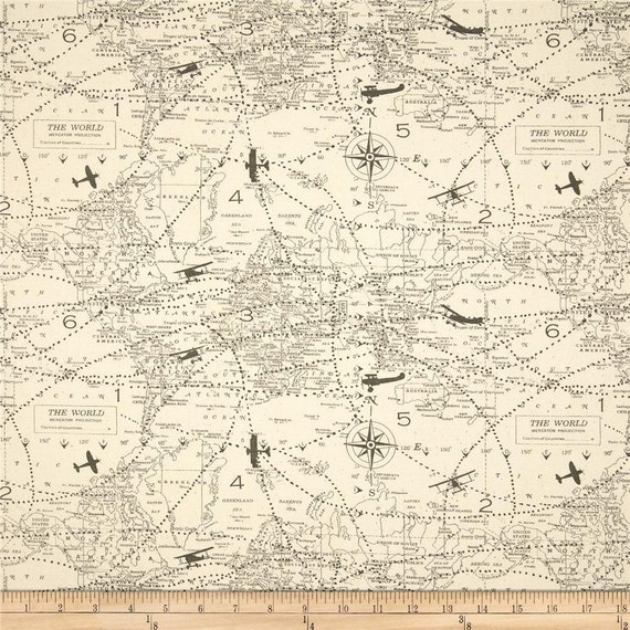 Ships same day map fabric premier prints air traffic felix vintage ships same day map fabric premier prints air traffic felix vintage airplane plane map home decor fabric by the yard from fabricsupplyco on etsy studio gumiabroncs Image collections