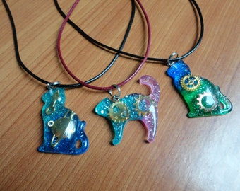 the passengers cats pendants resin